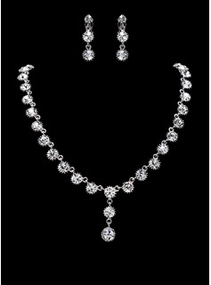 Jewelry Sets Anniversary Wedding Engagement Birthday Gift Party Daily Alloy With Rhinestones Silver Jewelry With Rhinestone (011019309)