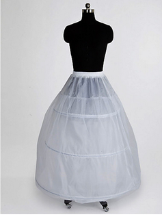 Nylon 2 Tier Floor lengde A-Line Full kappe Slip stil / Wedding Petticoats (037023567)