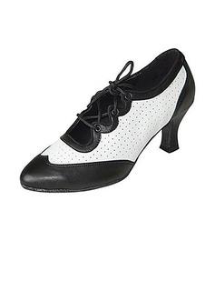De mujer Piel Tacones Salón Moderno Sala de Baile Swing Entrenamiento Zapatos de danza