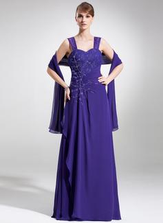 Vestidos princesa/ Formato A Coração Longos De chiffon Renda Vestido para a mãe da noiva com Pregueado Bordado Lantejoulas