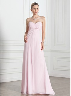 Empire Sweetheart Floor-Length Chiffon Evening Dress With Ruffle (017005269)