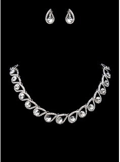 Jewelry Sets Anniversary Wedding Engagement Alloy With Rhinestones Silver Jewelry With Rhinestone (011017862)