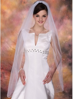 Fingertip Veils Tulle One-tier Pencil Edge Wedding Veils With Classic (006020342)