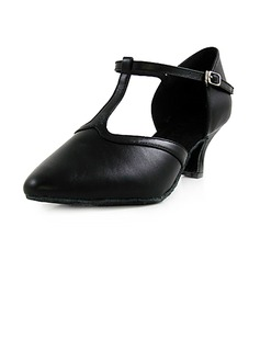 De mujer Piel Tacones Salón Moderno con Tira T Zapatos de danza