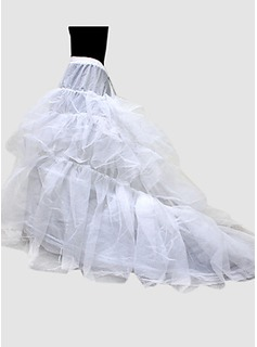Nylon Ball kappe Chapel Train en Tier Floor lengde Slip stil / Wedding Petticoats(037024157)