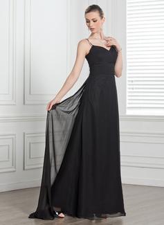 A-Line/Princess Sweetheart Watteau Train Chiffon Bridesmaid Dress With Ruffle