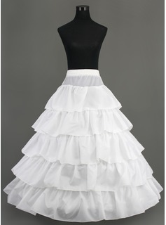 Nylon A-Line Full Gown 5 Tier Floor-length Slip Style/ Wedding Petticoats (037005376)