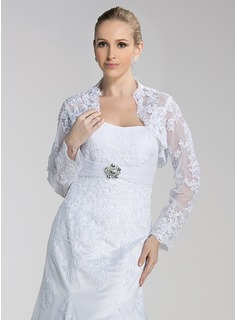 Long Sleeves Tulle Embroidery Bridal Jacket/ Wedding Wrap (013004188)