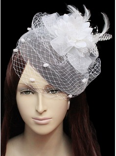 Beautiful Flannelette With Feather/Tulle Women's Wedding Fascinators  (042024902)