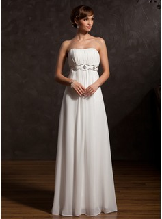 A-Line/Princess Sweetheart Floor-Length Chiffon Mother of the Bride Dress With Ruffle Beading (008015129)