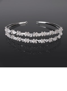 Tiaras Wedding Special Occasion Casual outdoor Rhinestone Silver Headpieces With Clear (042017902)