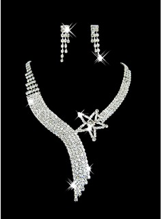 Gorgeous Clear Crystal With Alloy Wedding Bridal Necklace and Earrings Jewelry Set (011006979)