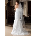 One-tier Cathedral Bridal Veils With Pencil Edge (006036777)