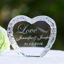 personalisé Forme en cœurs Cristal Décoration pour gâteaux (118042957)