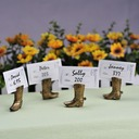 Vintage Style Shoes Design Resin Place Card Holders (Set of 4) (051062524)