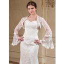 Long Sleeve Tulle Wedding Wrap (013041342)