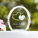 personalisé Doubles Coeurs Cristal Décoration pour gâteaux (118030223)