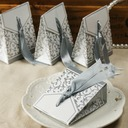Design de fleur Boîtes cadeaux avec Rubans (Lot de 12) (050005520)