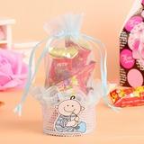 """""""Bébé"""" Basket Sacs cadeaux avec Rubans (Lot de 12)"""