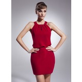 Sheath Halter Short/Mini Chiffon Bridesmaid Dress (022009216)
