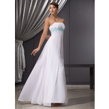 Empire Strapless Floor-Length Chiffon Evening Dress With Embroidered Ruffle Beading Sequins (017014471)