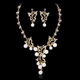 En forme de papillon Alliage/Pearl avec Cristal Dames Parures
