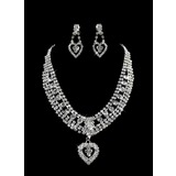 Stylish  Ladies Necklace and Earrings Jewelry Set (011005859)