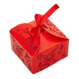 Conception Florale Cuboïd Carte papier Boîtes cadeaux (Lot de 12)