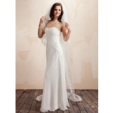 Waltz Veils Tulle Four-tier Lace Applique Edge Wedding Veils With Angel Cut/Waterfall (006020415)