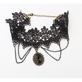 Vintage Legierung Schnur Frauen Halsketten
