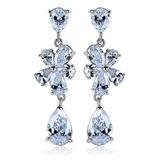 Sparking Zircon/Platinum Plated Earrings