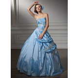 Ball-Gown Sweetheart Floor-Length Taffeta Quinceanera Dress With Ruffle Lace Beading Sequins (021002910)