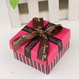 Simple Cuboïd Boîtes cadeaux avec Rubans (Lot de 12)