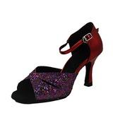 De mujer Brillo Chispeante Piel brillante Tacones Sandalias Danza latina Zapatos de danza