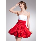 Empire Strapless Short/Mini Taffeta Homecoming Dress With Ruffle