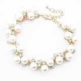 Einzigartige Legierung Nachahmungen von Perlen mit Strass Damen Mode Armbänder (011053750)