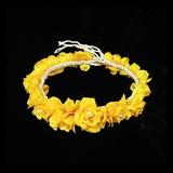 Stilvoll Nachahmungen von Perlen/Net Garn Blumen und Federn/Stirnbänder