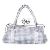 Elegant Metall/Acryl Wristlet Taschen
