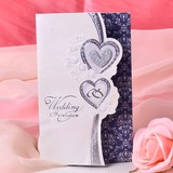Heart Style Tri-Fold Invitation Cards (Set of 50) (114033289)