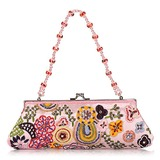 Elegant Cotton with Multicolor Beading Evening Handbag/Clutches(More Colors) (012025190)