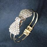 Des Bowknot Kupfer mit Strass Damen Armbänder
