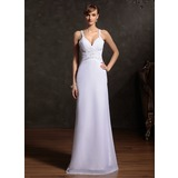 Sheath Sweetheart Floor-Length Chiffon Holiday Dress With Ruffle Beading (020015086)