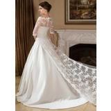 Half-Sleeve Lace Wedding Wrap