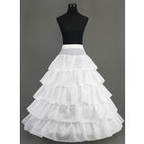 Women Nylon Floor-length 5 Tiers Petticoats