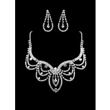 Gorgeous Rhinestone Two Piece Ladies' Fine Design Wedding Jewelry Set  (011011958)