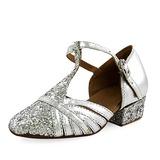 De mujer Niños Cuero Brillo Chispeante Tacones Moderno con Tira T Zapatos de danza