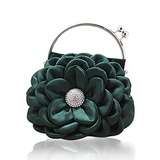 (Green)Satin With Shining Rhinestones Evening Handbags/ Clutches/ Top Handle Bags (012013561)