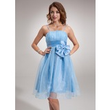 Empire Knee-Length Taffeta Organza Homecoming Dress With Ruffle (022004971)