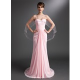 Sheath Sweetheart Court Train Chiffon Mother of the Bride Dress With Ruffle (008006422)