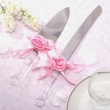 Personalized Lovely Rose Stainless Steel Serving Sets With Ribbons (118029970)